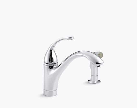 Forte sink faucet with spray and lever from KOHLER