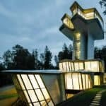 Zaha Hadid's amazing house for 'Russian James Bond' sits in forest near Moscow