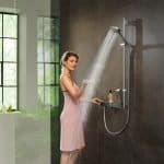 An innovation that transports you into a new world of showering:   the new PowderRain spray from hansgrohe