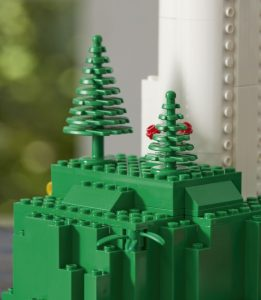 Lego's motorized wind turbine set features its first plastic