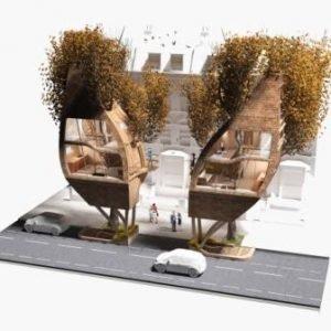 A Unique Solution for London's Housing Crisis : Street Tree Pods